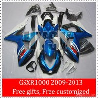 Wholesale Suzuki Brand Motorcycles - 2009 2010 2011 2012 2013 GSXR1000 GSX-R1000 09 10 11 K9 GSXR 1000 12 13 For Suzuki Blue White Motorcycle Fairing Body kits Brand New OEM