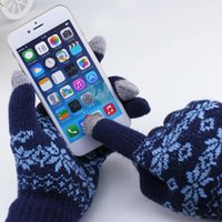 Wholesale Ipad Gloves Women - 1pair Touch Screen Gloves Capacitive For iPhone for iPad Smartphone Phone Women Man Winter Smart Gloves