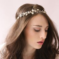 Wholesale Cheaper Feather Headbands - New Arrival 2016 Bridal Headpiece Handmade Beaded Bridal Headbands Pearls Cheap In Stock Head Accessories tiaras For Wedding Dresses