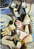 Wholesale Pablo Picasso Oil - Embrace,1971 by Pablo Picasso Paintings,for sale,High quality,abstract art,oil painting Canvas,Home Decor,Hand-painted