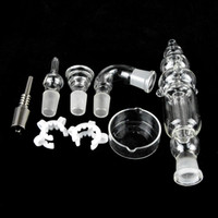 Discount 14mm honey straw nail - Nectar Collector Kit Titanium Tip 18mm 14mm nector collector2 Titanium Nail Grade 2 Honey Straw Concentrate dry herb Honey Dab Straw NC03