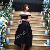 Wholesale Prom Trends - New Arrival Tea Length Black RosaNew 2018 Prom Dresses Evening Dress Cheap Latest Trend Special Occasion Gowns