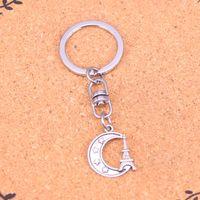 girls paris Australia - New Arrival Novelty Souvenir Metal eiffel tower paris moon Key Chains Creative Gifts Apple Keychain Key Ring Trinket Car Key Ring