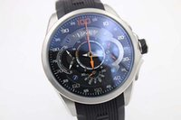 Wholesale Times Wrist Watch - Luxury Brand New Blue Dial Black Rubber Belt Mens AAA Stainless Dezel Watch Men's Sports Wrist Watchesver