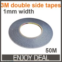 Wholesale Acrylic Pressure - Wholesale-10pcs lot 1MM * 50M Double Sided Adhesive Tape for cellphone LCD Touch Panel frame