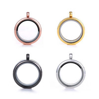 Wholesale Grade Wholesale Stainless Steel Jewelry - Top Grade Fashion 30mm Floating Locket DIY Transparent Glass Frames Floatings Charms Lockets Pendants Jewelry Wholesale Free Ship 0032KLF