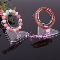 Wholesale Glass Watch Display Stand - 8.2*5.3 Top Grade Jewelry Stand Transparent Plastic Wrist Watch Display Holder Rack Store Shop Show Bracelet Bangle Stands Wholesale 021PACK