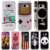 Wholesale Galaxy 12 Cases - 12 Designs!New Protective Covers For Samsung Galaxy S8 S8 Plus Case IMD Patterned Soft Silicone Back Cover Case For Samsung Note 8