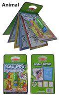 Wholesale Magic Water Canvas - Water Magic Drawing Board Child Kids Cartoon Animal Oppssed Water Drawing Board Pens Water Painting Canvas Drawing Set