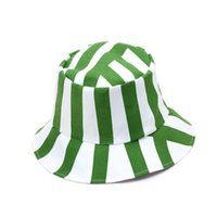 bleach sun - Hot selling Bleach Kisuke Urahara Cosplay hats Watermelon Stripe Bucket Hats sun hats