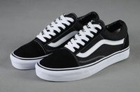 Wholesale Casual Shoes For Mens - Brand Sneakers For Women Mens Low Cut Skateboard Casual Sneakers Old Skool Canvas Shoes Classic 36-44