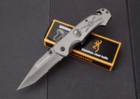 Wholesale Elf Monkey - Browning elf monkey 103 tactical folding knife camping hunting survival edc tools 440C 56HRC titanium pocket knife serrated utility tools