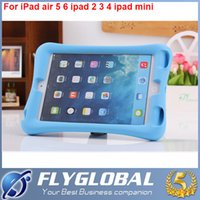 Wholesale Apple Tablets Sale - Hot Sale EVA Children Kids Soft Shock Proof Foam Case For Apple iPad 5 Air Silicone Tablet Covers With Stand free shipping