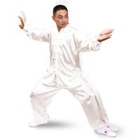Wholesale Women Tai Chi Uniform - Martial Arts shadowboxing taiji taijiquan tai chi wear clothing uniform set long sleeve white men women unisex