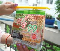 ingrosso bastoni magici del cibo-100 set Nuovo arrivo Magic Bag Sealer Stick Aste di tenuta uniche Grande aiuto per la conservazione degli alimenti Sigillatura della clip del morsetto di tenuta
