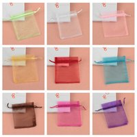 Wholesale Organza Gift Bags Green Dark - Organza Wedding Party Favor Decoration Gift Candy Sheer Bags Pouches Pure Color Organza Bag Pearl Yarn Bags OfGift Bags The WeddingDedicated