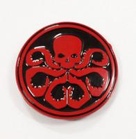 kemerler tokası kafatası toptan satış-Avengers Kaptan Amerika Hydra / kırmızı kafatası kemer tokası