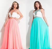 Wholesale Dresses Yellow For Women - New Plus Size Special Occasion Dresses Crystal Crew Collar 2016 Sweep Train Chiffon Plus Size Evening Dresses Prom Gowns Beaded For Women