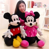 Wholesale-2pcs / lot 30cm Mini encantadora Mickey Mouse y Minnie Mouse Peluches Peluches para la Infancia X1074 regalo
