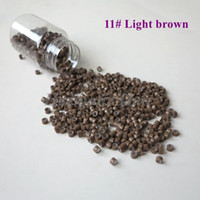 Wholesale brown micro bead hair extensions for sale - Group buy Aluminum Silicone Lined Micro Beads for I tip Hair and Micro Ring Loop Hair Extensions bottle mm Light Brown