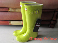 HUNTER RAINBOOST WELLIES WELLINGTONS WELLINGTON RAIN BOOT WELLY WATERPROOF KNEE BOOTS RAINBOOTS RAIN BOOTS GLOSSY MATTE SHOES GALOSHES