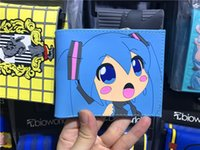 Wholesale Miku Dress - Japanese Anime ACG Hatsune Miku Vocaloid 2 Colorful Silica Short Wallet Waterproof Purse