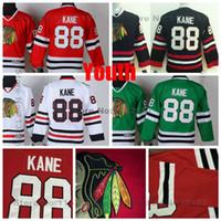 Wholesale Cheap Kids Factory - Factory Outlet, Cheap #88 Kids Patrick Kane Jersey Youth Chicago Blackhawks Jerseys Home Red White Black Green Boys Patrick Kanes Hockey Jer