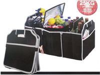 Wholesale Trunk Organiser - Car Organizer Boot Stuff Food Storage Bags trunk organiser Automobile Stowing Tidying Interior Accessories Folding Collapsible