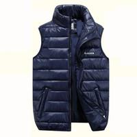 Wholesale Mens Multi Pocket Vest - Autumn and Winter vest mens down jacket thickening down vest youth men waistcoat designer jackets large size casual winter coats for men