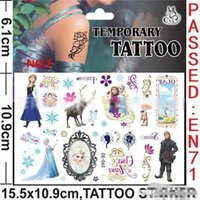 Wholesale FrozenTattoos Stickers Frozen Temporary Tattoos Frozen Body Tattoos Kids Cartoon Tattoos size cmx10 cm H0361