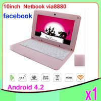 Wholesale Pink Laptops For Kids - DHL 1 PCCheap 10 inch android netbook for kids from China VIA8880 webcam ZY-BJ-3