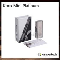 Wholesale mini evic - Kanger KBOX Mini Platinum Mod Kangertech Kbox Mini 60W TC Ecigarette Mods 100% Original VS eVic Mini IPV D3
