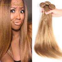 en kaliteli perulu atkı toptan satış-Yeni Brezilyalı Bakire Saç Örgü düz Işlenmemiş Malezya Perulu İnsan Saç Toptan Atkı En Kaliteli Saç Örgüleri 3 Adet / grup