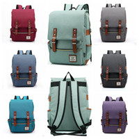 Wholesale Vintage Style Large Canvas Backpack - 11 Colors Vintage Women Canvas Backpacks For Teenage Girls School Bags Large High Quality Mochilas Escolares Fashion Backpack CCA8049 10pcs