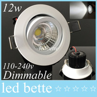 Noble Spain Style 10w 12w Cob Led Luzes embutidas Dimmable Led Downlight de teto para sala de estar Natural White 60angle + Driver