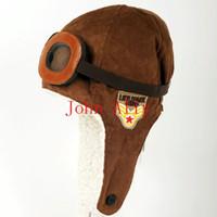 chapéu piloto dos aviadores dos miúdos venda por atacado-2 Cores para Você Escolher Moda Unisex Bebê Criança Criança Crianças Bonito Quente Piloto Aviador Inverno Cap Earmuff Hat