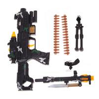 Wholesale Kids Submachine Gun - LS4G New Toy Kids Military Assault Machine Guns with Sound Lights Gift