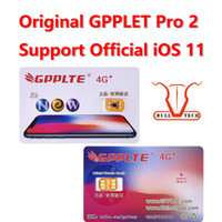 Wholesale Iphone 5s 4g - Original GPPLTE Pro 2 4G+ Card Neter Air Unlock Sim IOS11 iPhone X 8 8 Plus 7 6S 6 5S RSIM11 GPP Unlocking