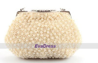 Luxo Moda Shell Pearl Beads Crystal Evening Purse Clutches Designer Handbag For Lady Women Crossbody Shoulder Bag
