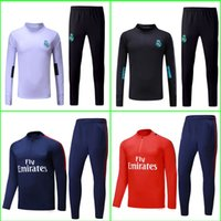 Wholesale Tracksuit Grey - Camisetas Maillot de foot Real madrid tracksuit sweater jogging suit survetement training suit chandal NEYMAR JR MBAPPE Ronaldo jersey 2018