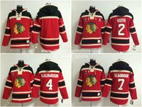 Wholesale Cheap Blue Sweaters - Cheap Sweater Chicago Blank #2 Duncan Keith Seabrook #7 Hjalmarsson #4 Red Home Blackhawks Nhl Ice Hockey Stitched Old Time Hoodies Jerseys