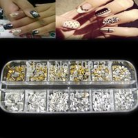 Wholesale Nail Art Rivets - New Arrived Chic1200PC New Punk 3D Acrylic Rivets Nail Art Decoration DIY free shipping H6629 P
