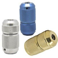 Wholesale Copper Tube Wholesale Usa - USA Dispatch 3pcs Lot 3 Colors Silver Blue Golden Auto Lock Self-locking Tattoo Grips Tubes 25% discount Tattoo accessory supply