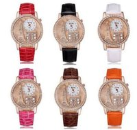 Wholesale Diamante Watches - Exquisite Gogoey 1892 Watches Relief Eiffel Tower watch Embossment diamante set auger Rose jinta woman table wholesale dhl gift 100pcs