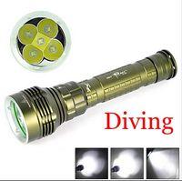 Wholesale Cree Scuba Diving - SolarStorm Dx5 Underwater 100m 7000LM 5x Cree XML XM-L L2 LED 3-mode Waterproof Scuba Diver Diving Flashlight Lantern By 2x18650 2x26650