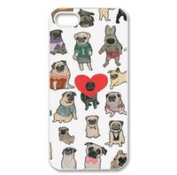 Wholesale Dog Design Iphone Cases - Wholesale Cute More Dog Charm Design Hard Plastic Mobile Phone Case Cover For iPhone 4 4S 5 5S 5C 6 6plus