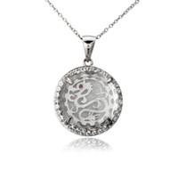 Wholesale 925 Silver Dragon Necklace - Wholesale-13.3 Ct White Quartz & White Topaz & Garnet Solid 925 Sterling Silver Dragon Pendant Necklace Best Friend