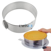Wholesale Christmas Stainless Steel Mold - Retractable Cake Ring Cutter Adjust Create Multi-Layer Stainless Steel Cake Tool 24.5-31CM Cake Mold 1PCS