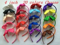 Wholesale Baby Alice Bands - 10% OFF 2015 cheap sale!4 INCH,20 colors,baby girl grosgrain Ribbon Boutique bow alice band hairband children Hair accessories 24pcs lot