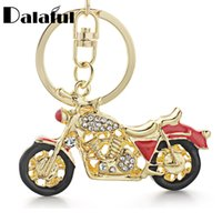 Wholesale motorcycle lock chain - beijia Amazing Motorcycle Keyrings Keychains Enamel Crystal Key Chains Holder Rings For Car Best Gift K311